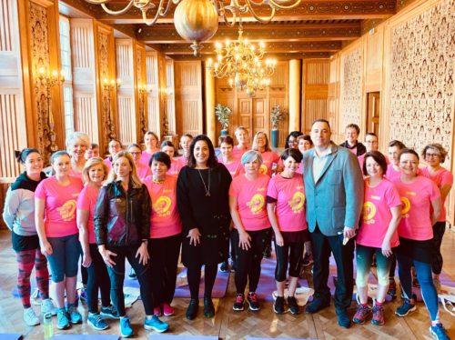 08.03.2019 – Journée de luttes des droits des femmes :  séance Pilates avec un accueil de la mairie de Nantes